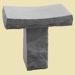 Memorial Garden Saddle Bench