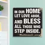 In Our Home Personalized Family Rules Canvas