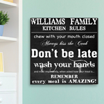 Personalized Kitchen Rules Canvas