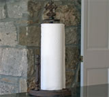 Cast Iron Paper Towel Holder with Cross