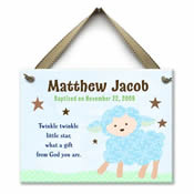 Personalized Baby Baptism Wall Tile