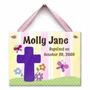 Personalized Baptism or Christening Tile for Baby