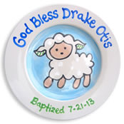 Personalized Baby Baptism Plate