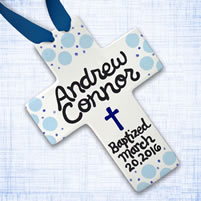 Personalized Baby Christening Cross