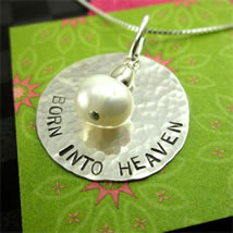 Born into Heaven Bereavement Jewelry Gift