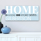 Home is where our story begins - personalized canvas