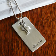 Personalized Scripture Dog Tag
