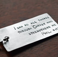Christian Dog Tag Philippians 4:13